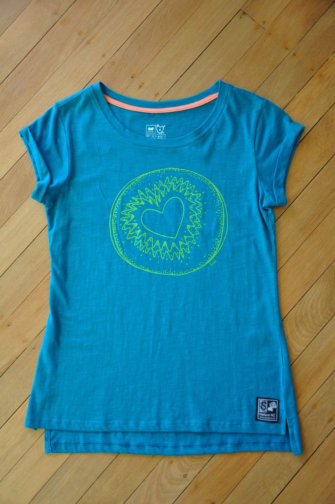 Ladies Love Kiwi Emerald Slub T-Shirt Limited Edition