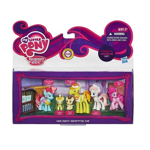 My Little Pony Cake Family Babysitting Fun Mini Collection Set