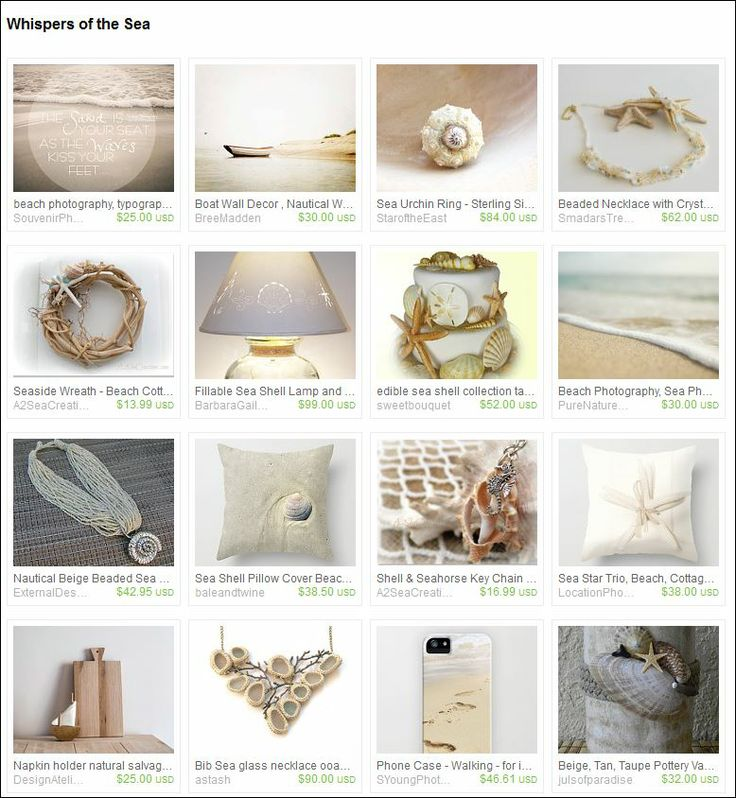 Curated by Sabine Schumacher from AtelierLivingDreams on Etsy.  Just beautiful as a walk along a silent beach before sunset... dream away and enjoy...!