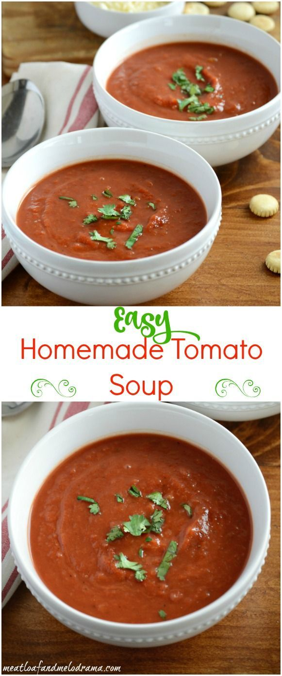 Recipe for easy homemade tomato soup