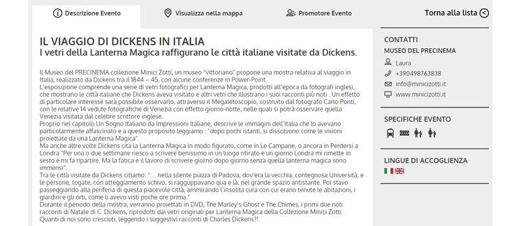 Il Viaggio di Dickens in Italia con Expo Veneto 2015.