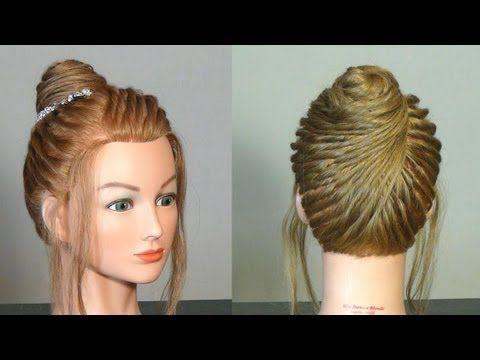 Прическа на средние волосы. Hairstyle for medium hair