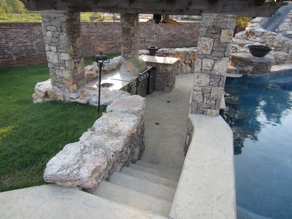 Sunken kitchen w pool bar portfolio page for atlantis - Swimming pool contractors oklahoma city ...