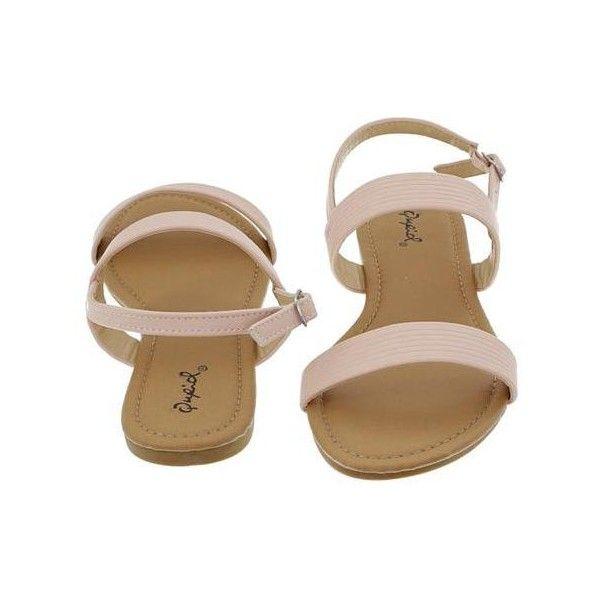 Archer-395 Textured Slingback Sandal ($25) ❤ liked on Polyvore featuring shoes, sandals, sling back shoes, bear shoes, slingback shoes, slingback sandals and sling back sandals