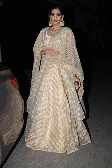 Sonam Kapoor in House Of Kotwara. Image: Vogue