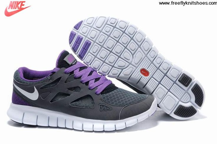 New Womens Nike Free Run 2 Grey Purple White Shoes Fashion Shoes Shop