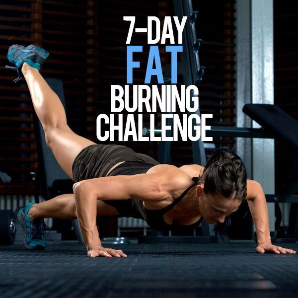 7 Day Fat Burning Challenge--a great way to start the week off right! #7days #fatburning #challenge