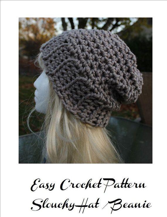 New Pattern Crochet Pattern Slouchy Hat  by WeddingsBabiesHome