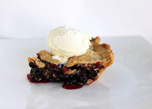 Saskatoon berry rhubarb pie - This is delicious! m.m.