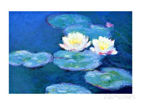 Waterlilies, Evening Giclee Print by Claude Monet at AllPosters.com