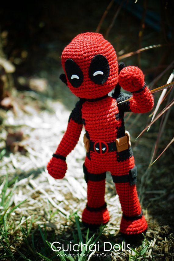 Deadpool Crochet pattern PDF Amigurumi superheroes Comics inspired ... | 855x570