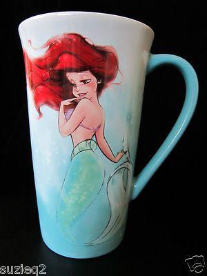 New Disney Store D23 Expo The Little Mermaid Art of Ariel Designer Mug White |