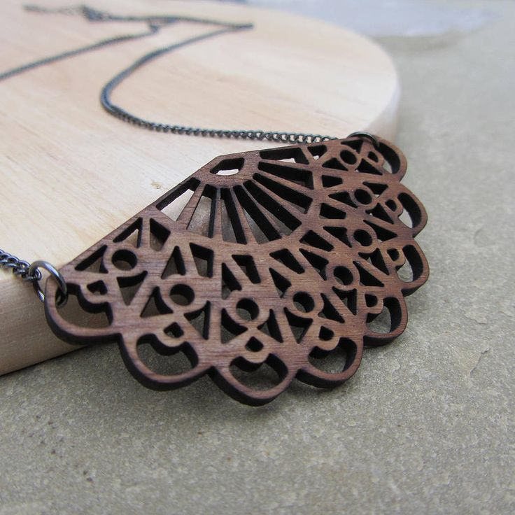 antique fan necklace by sarah keyes contemporary jewellery | notonthehighstreet.com
