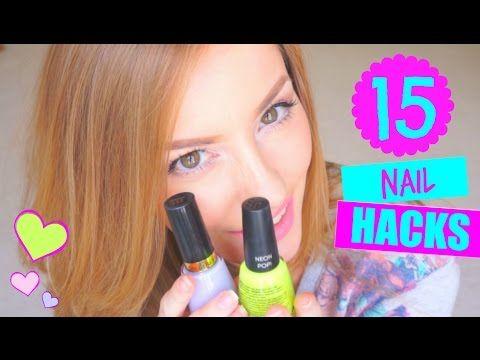 15 NAIL HACKS ✔ | TIPS para UÑAS PERFECTAS EN CASA!♥ | 15 Nail Hacks Every Girl Should Know! - YouTube