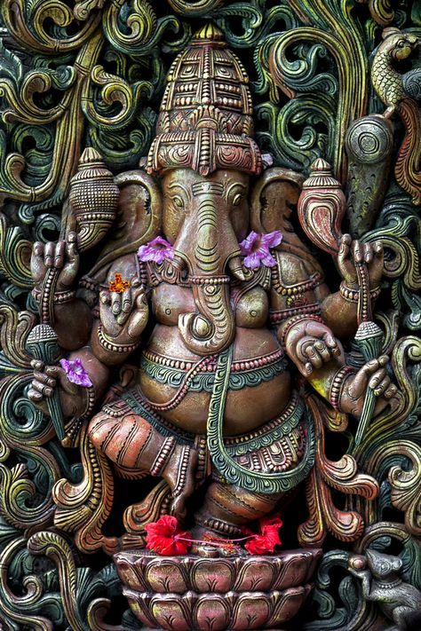 Ganesha of Kauais Hindu Monastery by Christian Del Rosario