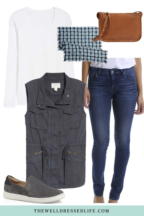 4eceecd3d7 Weekend Inspiration  Navy Utility Vest - The Well Dressed Life