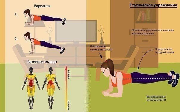 Упражнения: статика/динамика