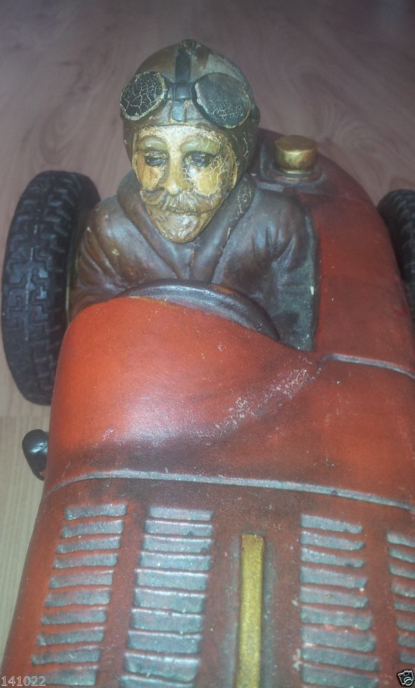 VERY RARE OLD VINTAGE RACING CAR BUGATTI  MADE IN 1944 HANDMADE COLLECTOR CAR