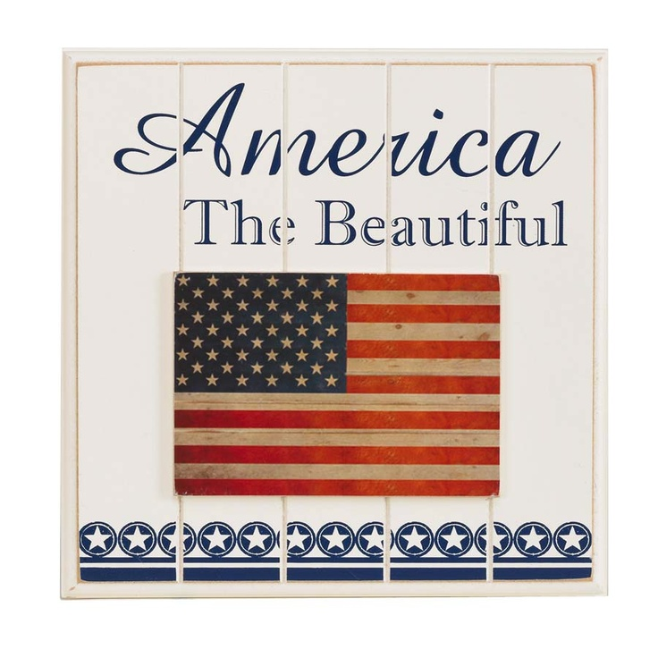 America The Beautiful Plaque.  Patriotic Americana Decor from http://www.staceyssimplestuff.com/