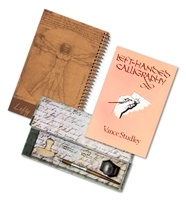 Deluxe Left-Handed Calligraphy Set with instructional book
