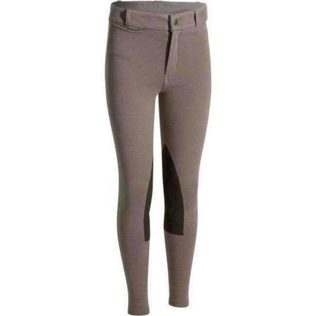 Women Riding Breeches with Side Pockets High Waist Ventilated Active Equestrian Pants Schooling Horseback Riding Pants