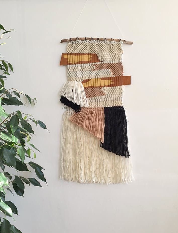 Neutral Gold Wallhanging by Lena Malevitis, $78