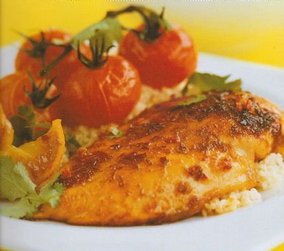 Lemon coriander chicken -- Adapted from the Ainsley Harriott low Fat book.