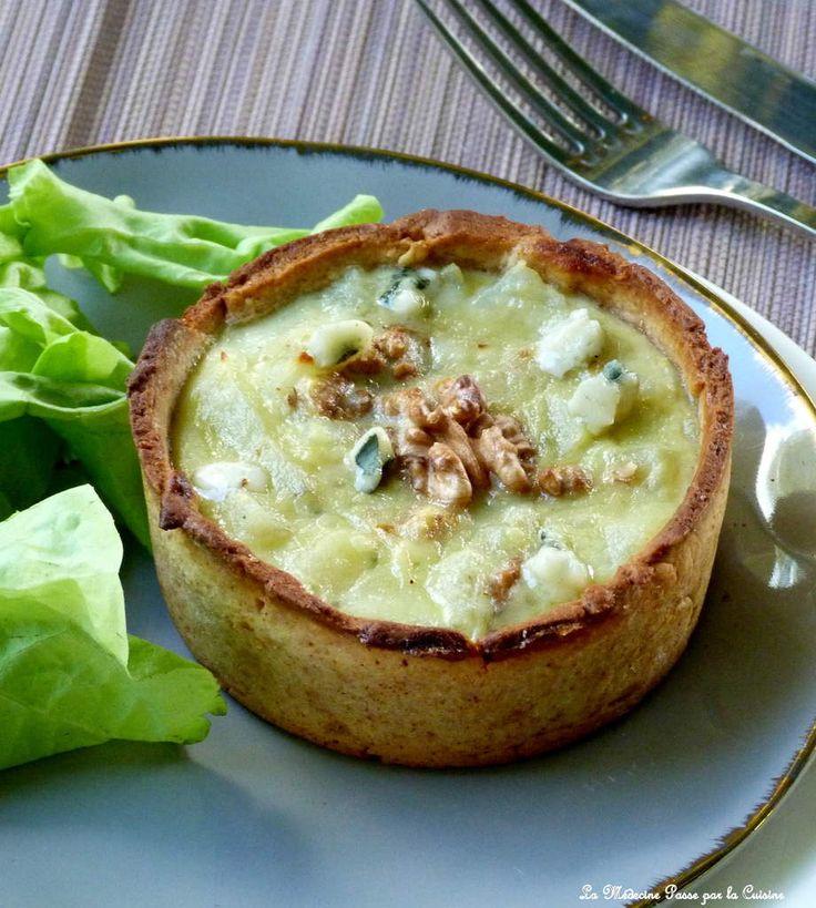 [On aime] Petites quiches pomme de terre, roquefort papillon et noix - La medecine par la cuisine