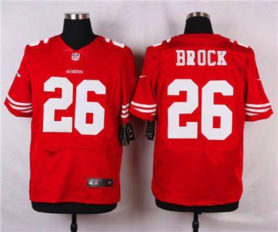 152637ecf ... NFL Nike49270324 Nike San Francisco 49ers 26 Tramaine Brock Red Elite  Jersey ...