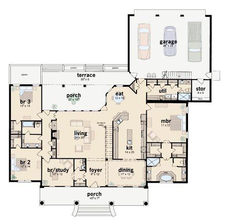 17 best images about house plans on pinterest colonial for One story colonial house plans