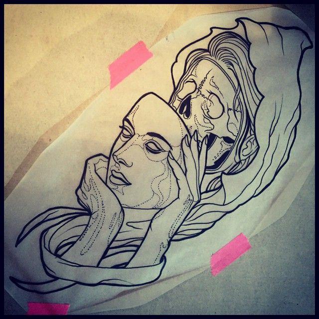 Death Girl Tattoo Design