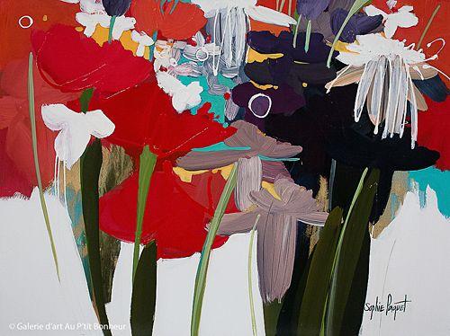 Sophie Paquet, 'De rouge en rouge', 30'' x 40'' | Galerie d'art - Au P'tit Bonheur - Art Gallery