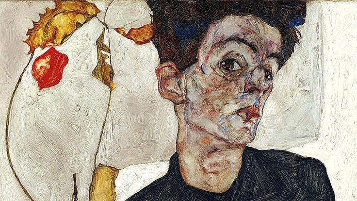 Egon Schiele (Credit: Credit: Self-Portrait with Physalis/Egon Schiele/Wikipedia)