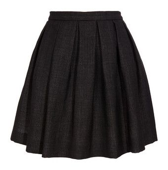 """""""Dries Van Noten"""" by c-mcmahon05 ❤ liked on Polyvore featuring skirts, bottoms, saias, gonne, dries van noten, knee length pleated skirt, pleated circle skirt, circle skirt, circle skater skirt and zipper skirt"""