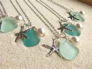 beautiful sea glass and starfish charm