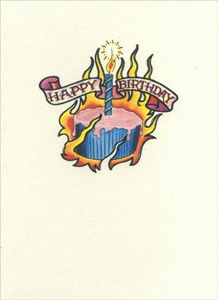Happy Birthday #cupcake #tattoo #fire