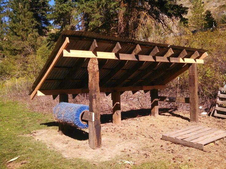 Srp Enterprises Weblog: Run In Sheep Shelter. Post And Beam Construction. Posts