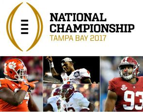 CFB Playoff National Championship: January 9, 2017  http://www.boneheadpicks.com/cfb-playoff-national-championship-january-9-2017/