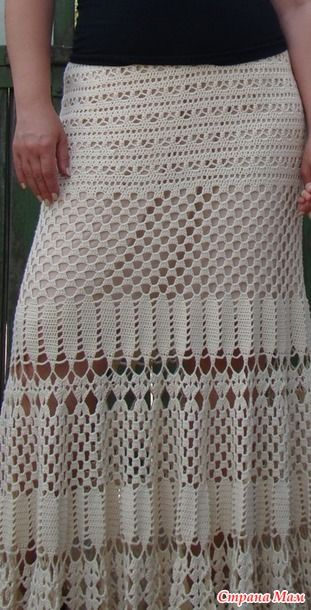 Сегодня показываю вам свою юбку, одну из самых любимых. Связала ее пару лет назад и с удовольствием носила, хотела связать еще одну такую же для мамы, но пока только в планах.