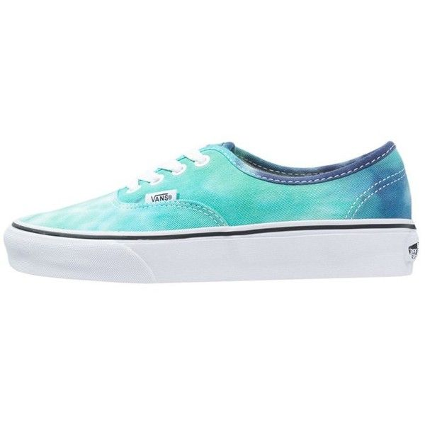 Vans AUTHENTIC Trainers navy/turquoise ($76) ❤ liked on Polyvore featuring shoes, sneakers, dark blue, navy flat shoes, vans trainers, round toe sneakers, dark blue shoes and vans footwear