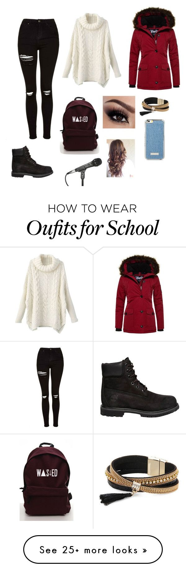 """Untitled #1154"" by catrinel-grigorescu on Polyvore featuring Topshop, Timberland, Superdry and Simons"