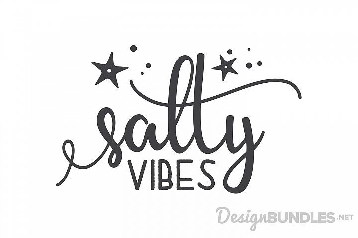 FREE SVG File - Salty Vibes Summer Beach Quote | SVG Files