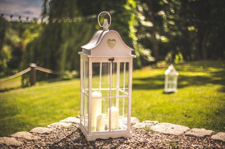 Dekoracje ogrodu / decoration in the garden #wedding #decoration #lantern #rustic #light #candle #garden