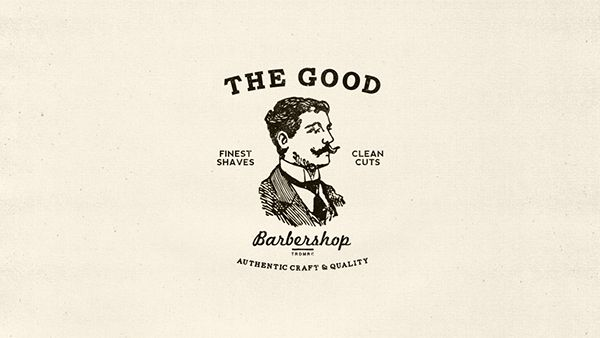 The Good Barbershop - Authentic Craft & Quality - Barberia is a logo and branding design project for a client. The client wanted a clean turn of the century Americana, inspired on old cigar boxes and dapper man. I clean up old scan vector elements and wor…