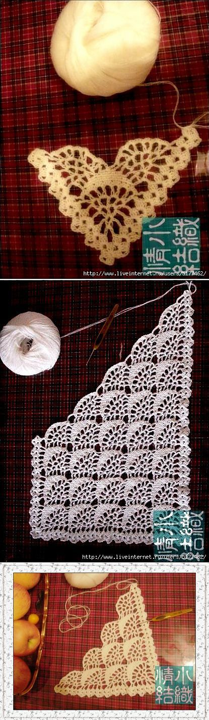 Beautiful stitched crochet shawl, wrap! :). - Lee Ann H #Crochetgottaloveit.blogspot.com Шаль ,шарф крючком. | Шаль | Постила