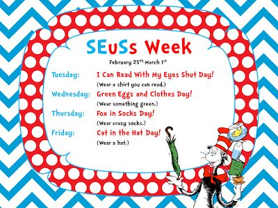 Smithville Elementary Library: This Week in the Library...It's SEuSs Week!