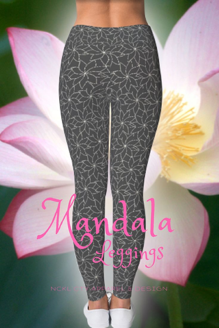 Mandala Leggings - These on-trend mandala leggings are sure to pair well with anything from a cardigan, your favorite hoodie or a cute denim jacket! Get yours today! #mandalaleggings #mandalas #mandalalove #mandalastyle #zenleggings #lotusleggings #buddhalove