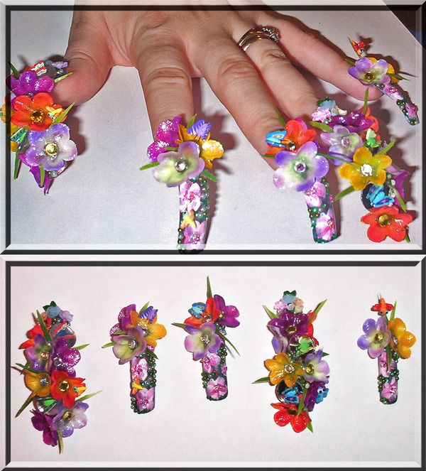 111 best nails crazy images on pinterest long fingernails extreme nail artt for everyday wear but for nail art competitions prinsesfo Image collections