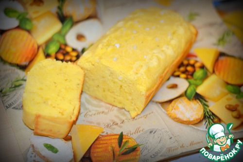 Кукурузно-сырный пирог-кекс - кулинарный рецепт