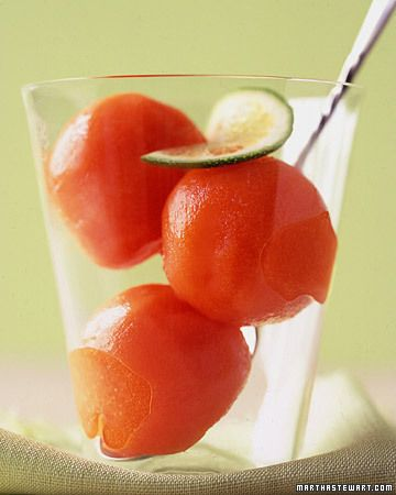 DIY Papaya Sorbet: Make your own sorbet with red papaya and a dose of freshly squeezed lime juice, Wholeliving.com